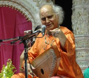 Pandit Jasraj with a swarmandal1