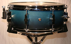 A drum kit snare drum.
