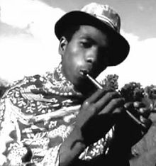 A sodina player in Madagascar