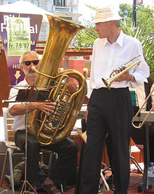 """Kaiserbass"" (tuba in B♭) and cornet"