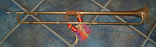 Reproduction baroque trumpet by Michael Laird