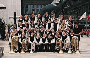 Sveio School band at the Norwegian Championship in 2002