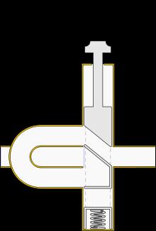 Trumpet valve bypass (depressed)