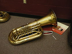 Tuba with four rotary valves